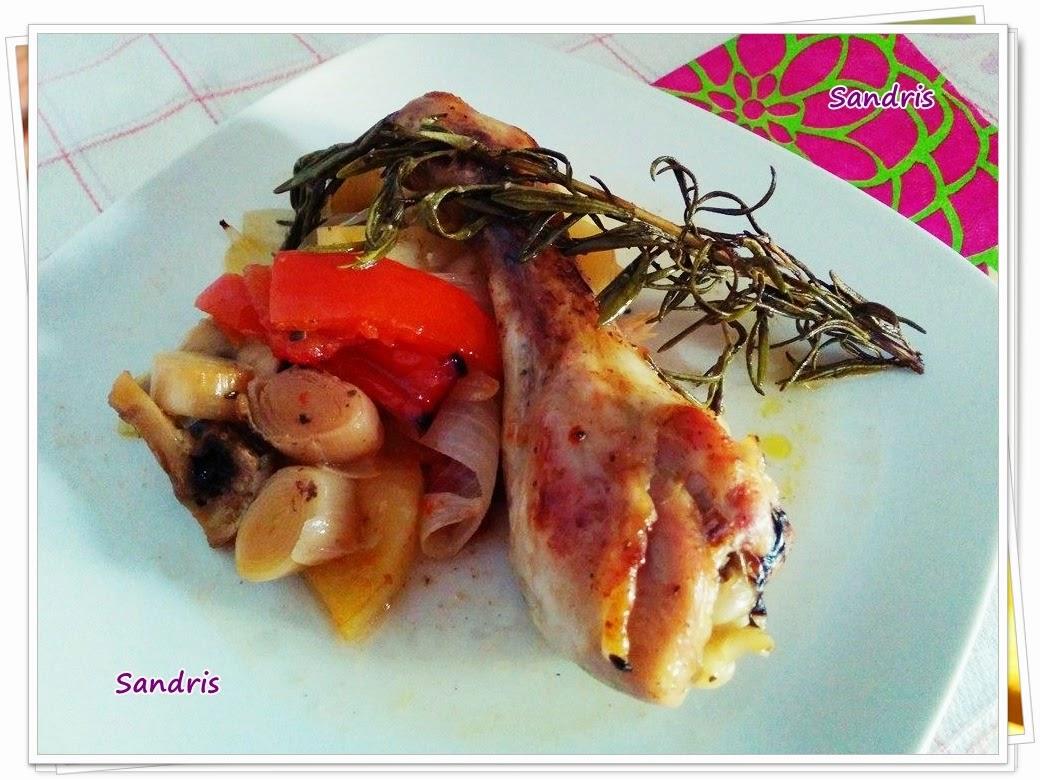Inventos de sandris pollo al horno con verduras y patatas - Pollo al horno con limon y patatas ...