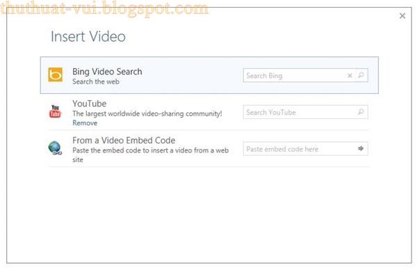 Cách chèn Video Youtube vào Word 2013