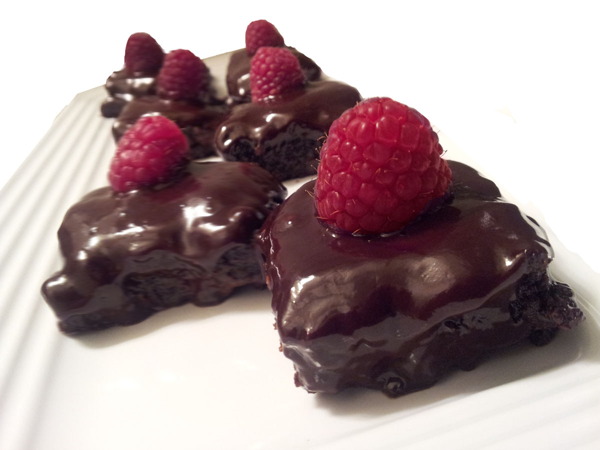 Profound Hatred of Meat: Double Chocolate Raspberry Brownie Bites
