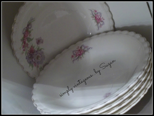 vintage dishes, johnstone