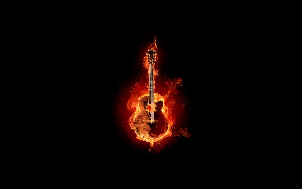 guitar on fire wallpapers - photo #22