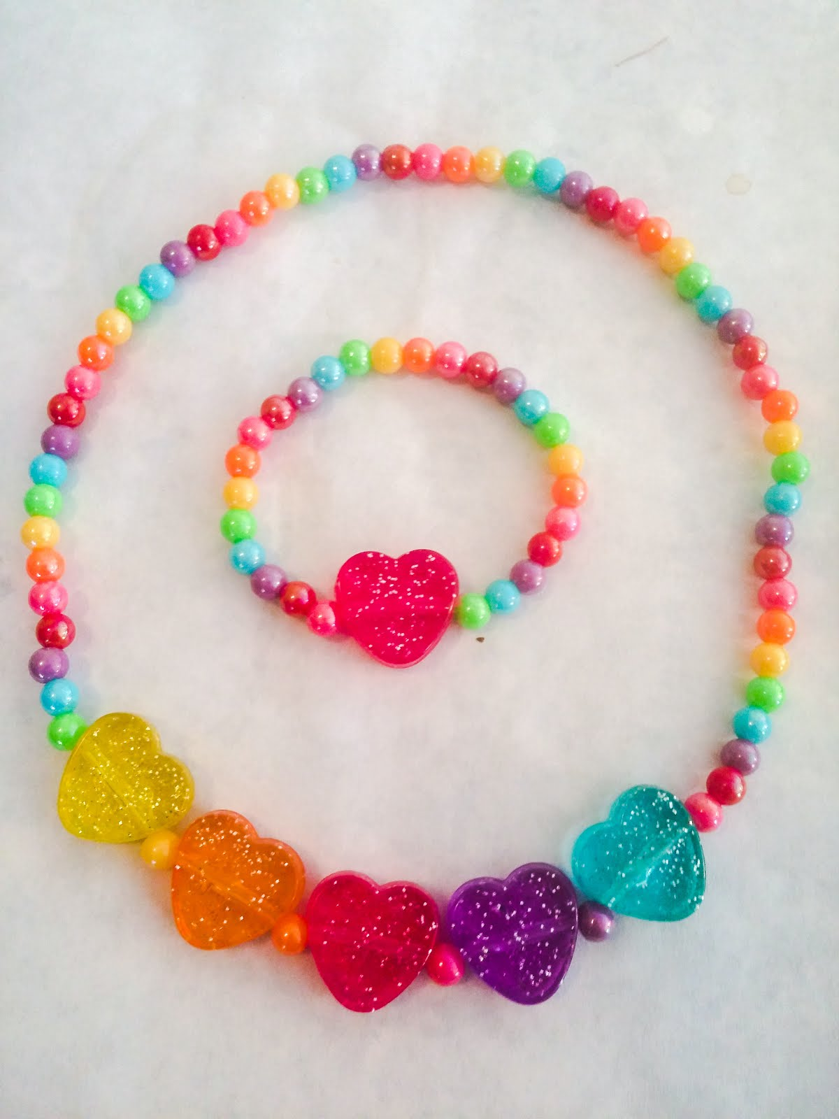 LITTLE GIRLS HEARTS NECKLACE OR BRACELT