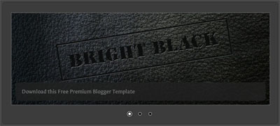 bright black blogger template