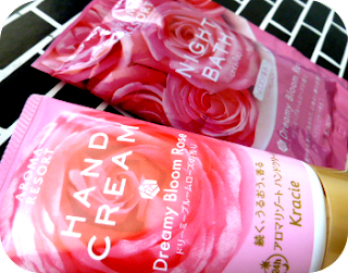 Kracie Hand Cream and Bath Salt Dreamy Bloom Rose