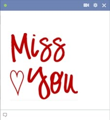 Miss You Facebook Emoticon