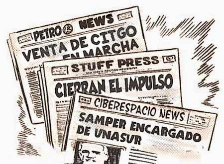 front page tipo cómic - noticias Venezuela