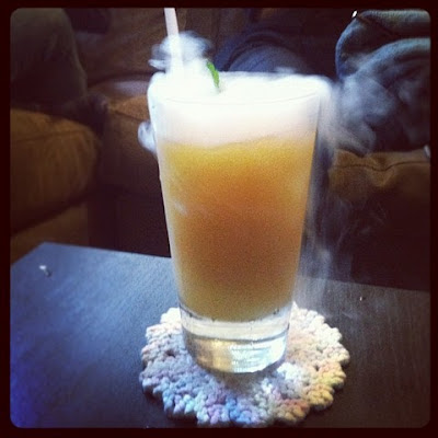 mai tai with dry ice smoke. pic by Wondergus.