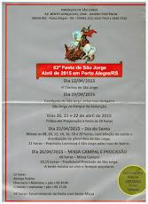 GSNRS APOIA FESTA DE SÃO JORGE