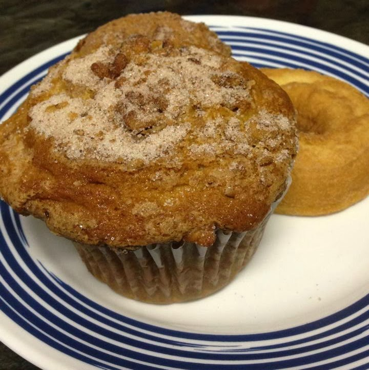 christmas coffee cake muffin