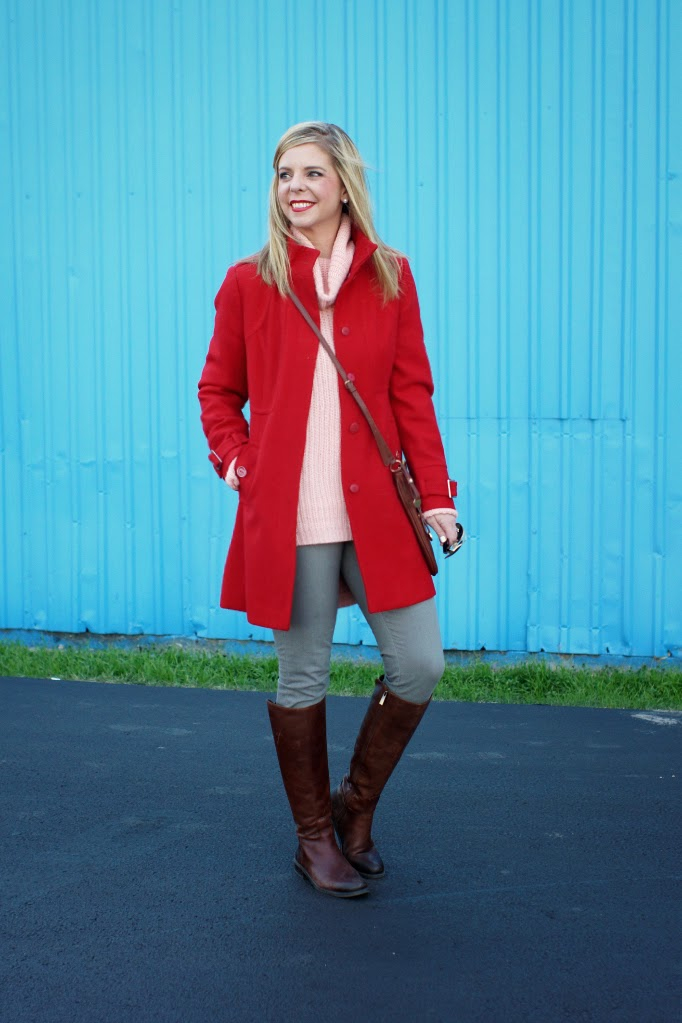 Pink Red Gray Oufit for Valentine's Day
