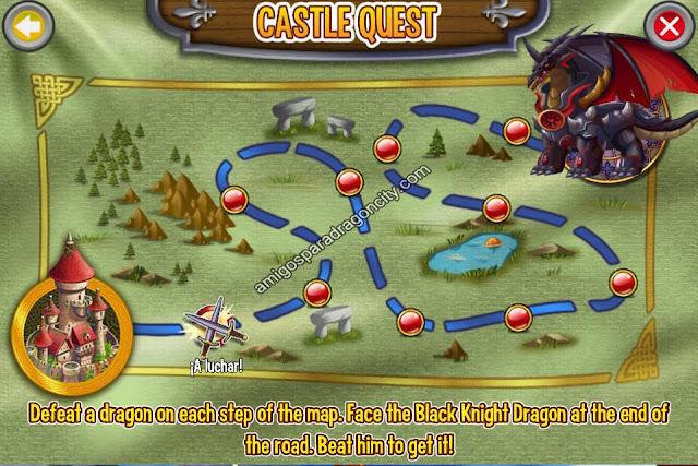 imagen del mapa de combates de la isla del castillo de dragon city ios