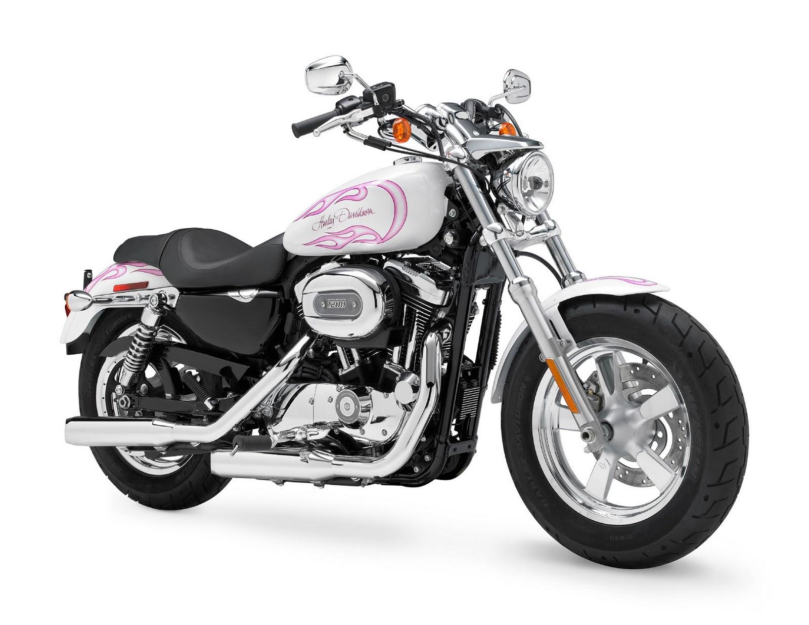 Pearl White Harley Davidson Sportster