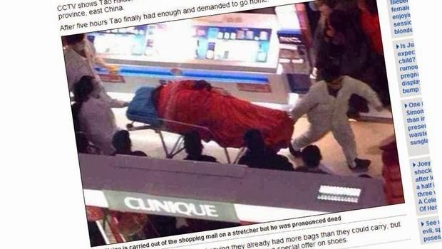 China: joven se suicida tras 5 horas de compras con su novia