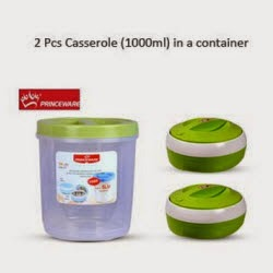 Snapdeal: Buy Princeware Casseroles 1lt set of 2 + Storage Container 5lt Rs. 242