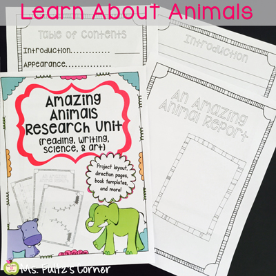 Turn your students into research experts with this Amazing Animal project that integrates reading, writing, science, and art.