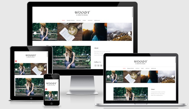 Woody Blogger Template
