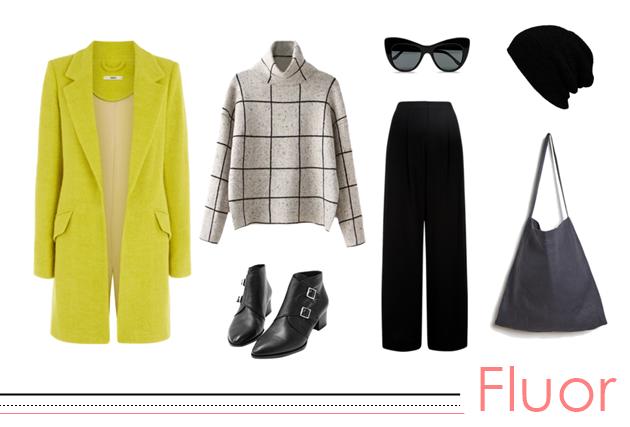 cómo llevar un abrigo de color