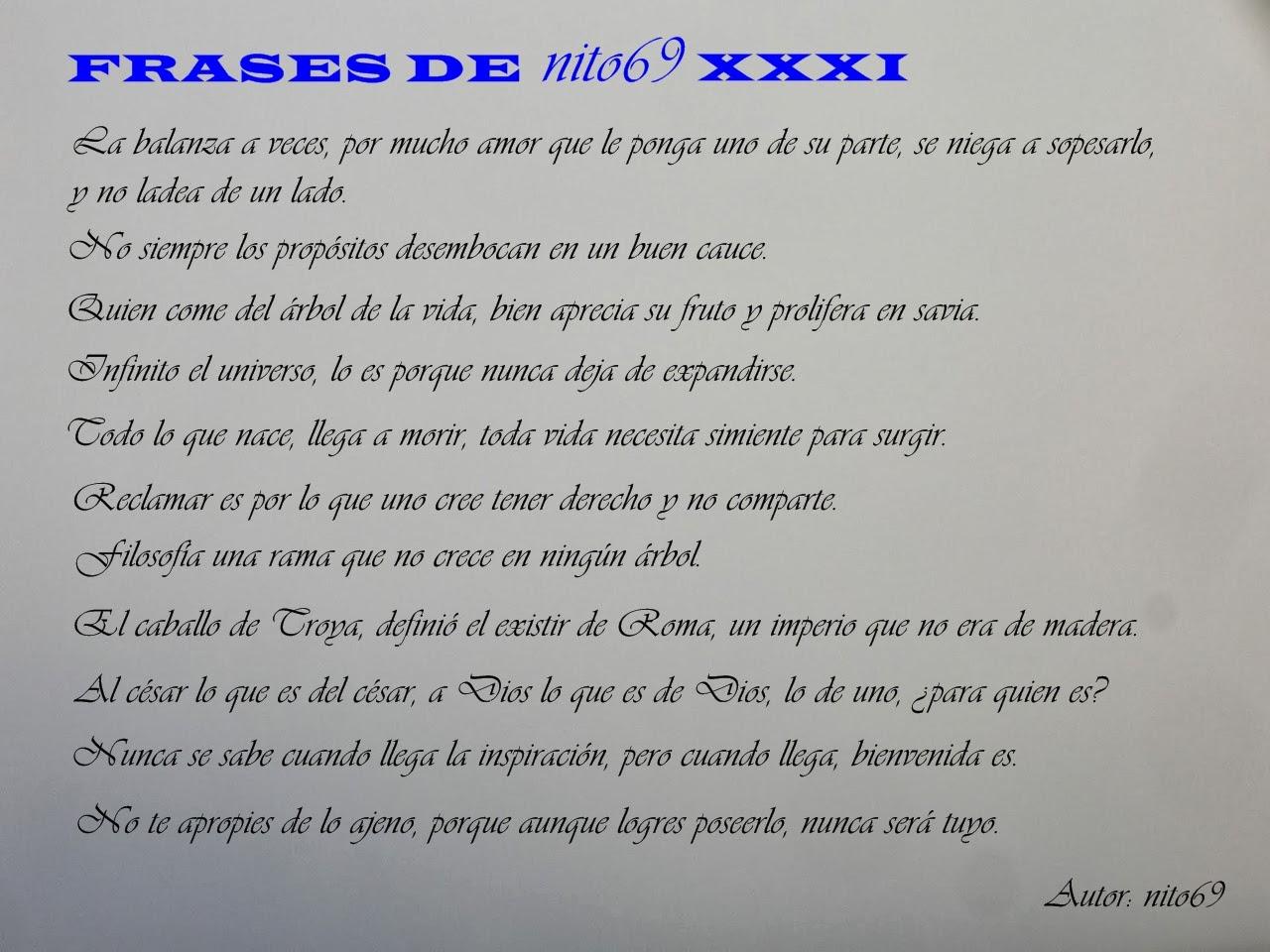 FRASES DE nito69 XXXI