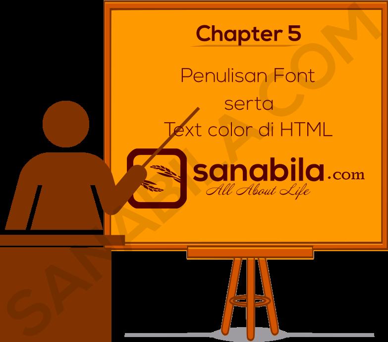 Penulisan Font dan Text Color di HTML