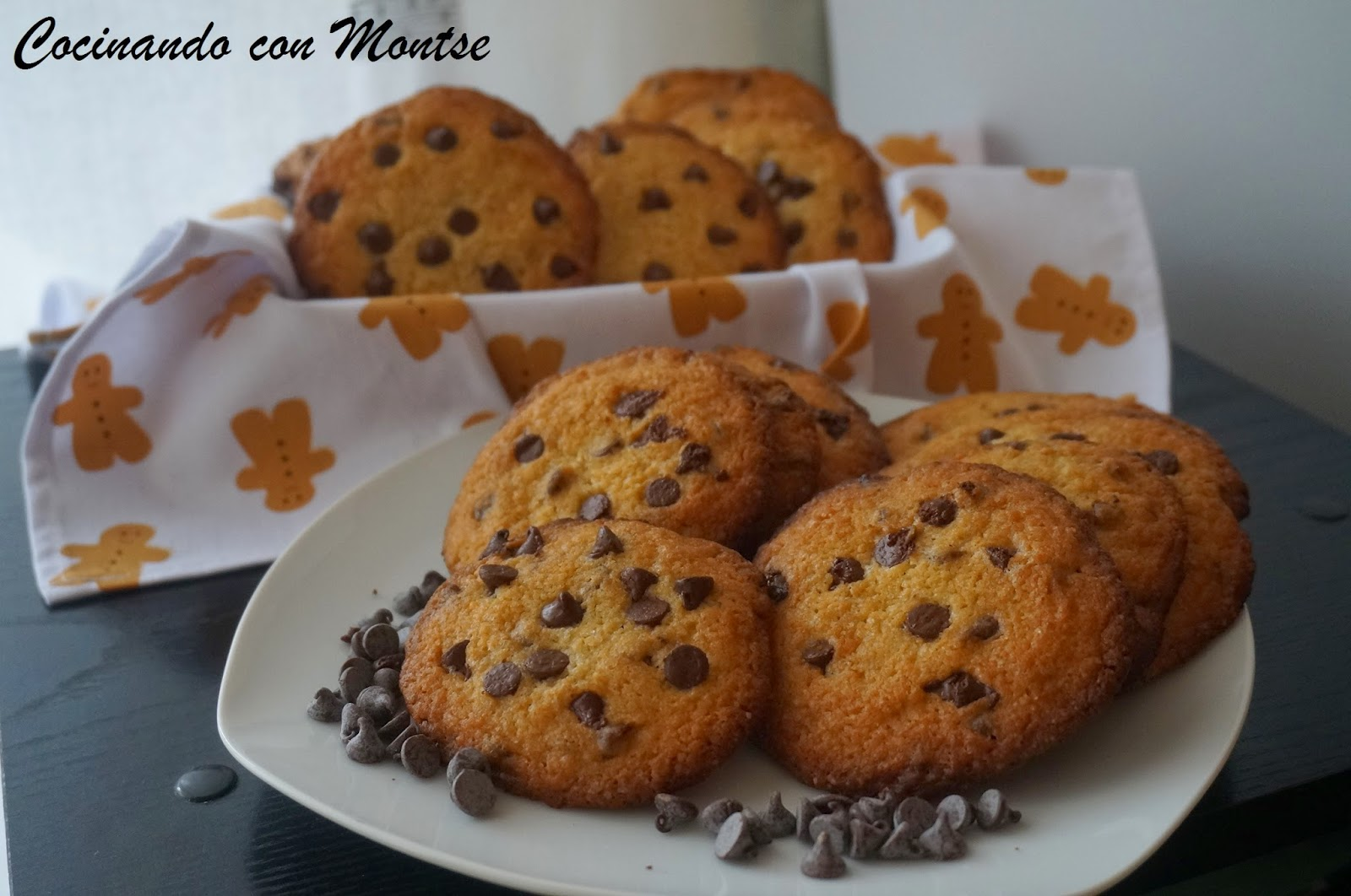 Cookies con gotas de chocolate