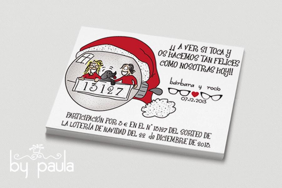 participaciones de lotería personalizadas, by paula