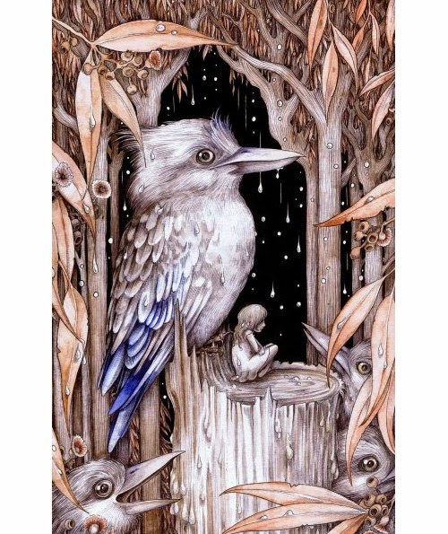 15-The-Kookaburra-Prince-Adam-Oehlers-Illustrations-and-Drawings-from-Oehlers-World-www-designstack-co