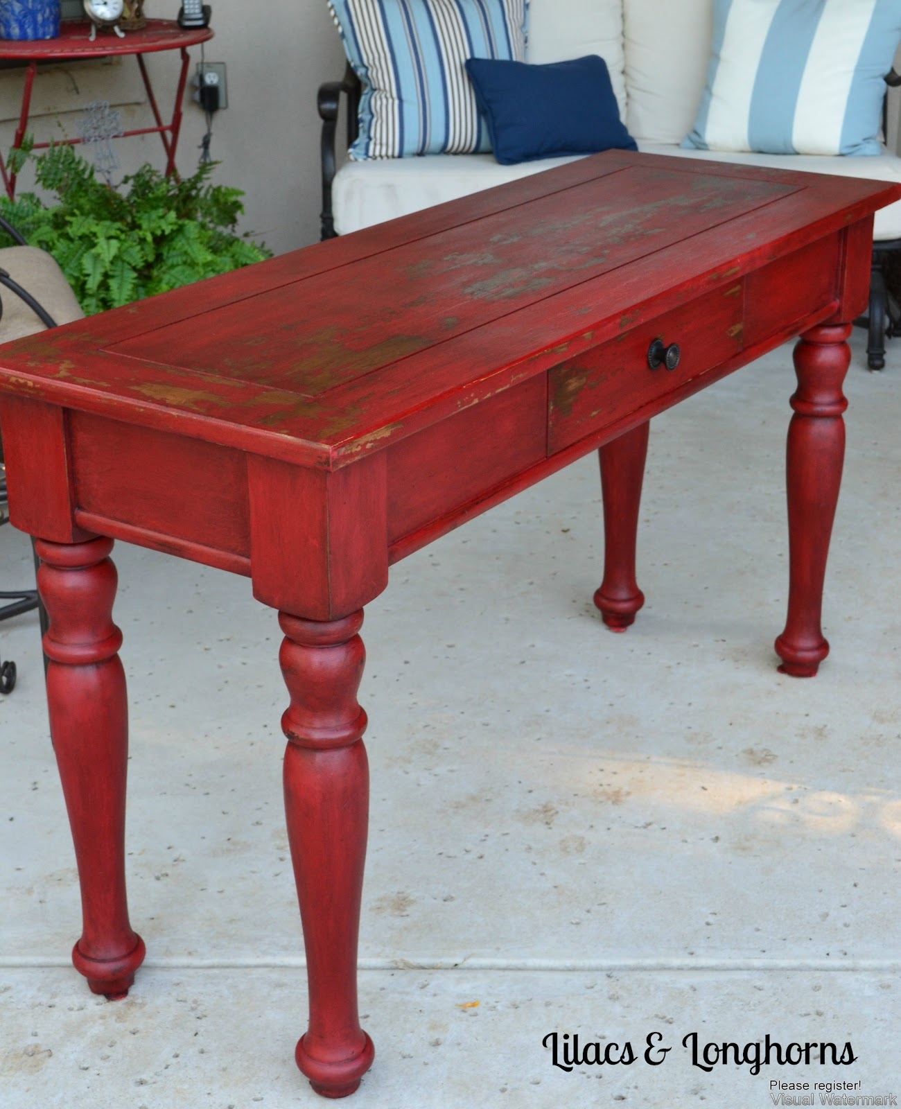 Red Painted Coffee Table Instacoffeetable