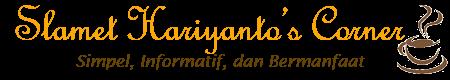 Slamet Hariyanto's Corner