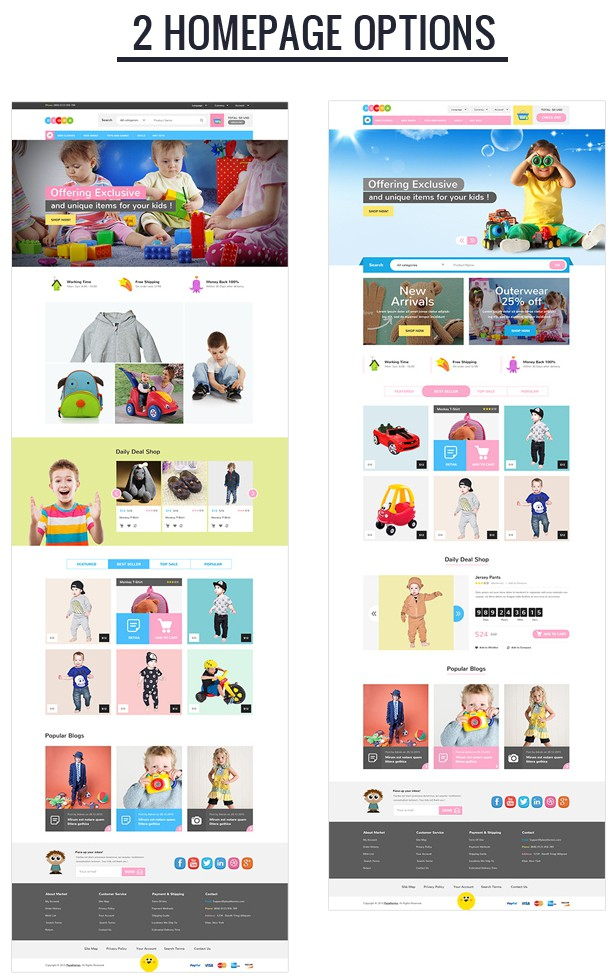 Fiora Kids Responsive Magento Theme