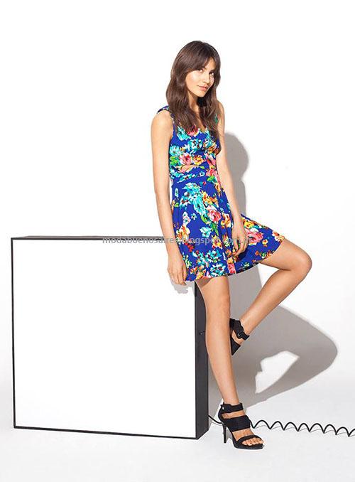 Moda primavera verano 2015 Vestidos cortos MAB 2015.