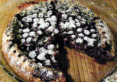 Whole Clafoutis with One Slice Removed