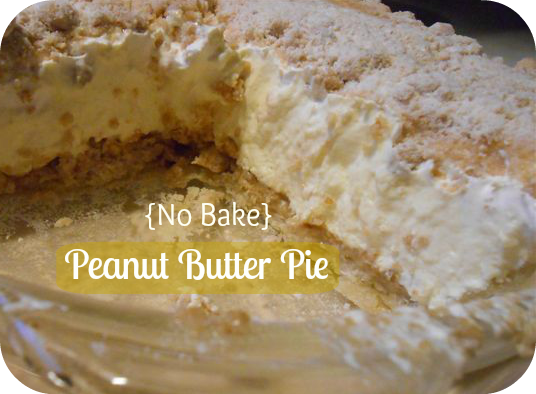 Peanut Butter Pie, creamy-cold filling of cream cheese and peanut ...