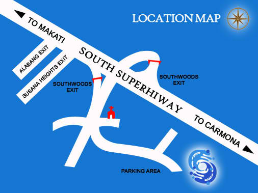 Location map of Splash Island Waterpark