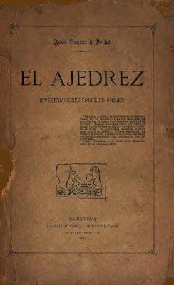 Edición de 1891 del libro de Josep Brunet i Bellet sobre el origen del ajedrez