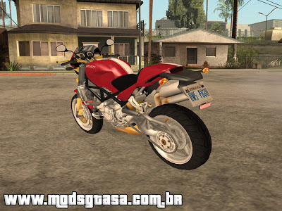 Ducati Monster S4R para GTA San Andreas