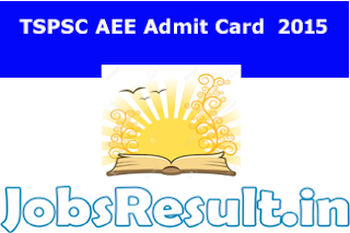 TSPSC AEE Admit Card  2015