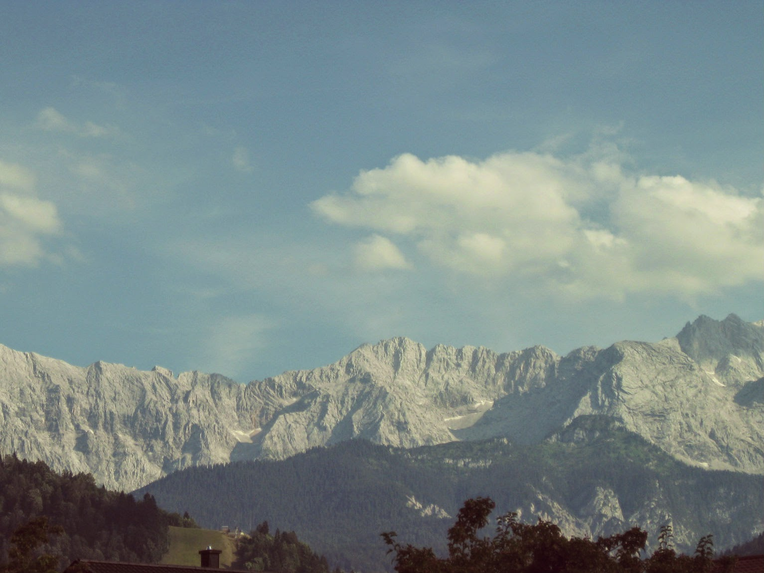 View of the Alps from Garmisch-Partenkirchen