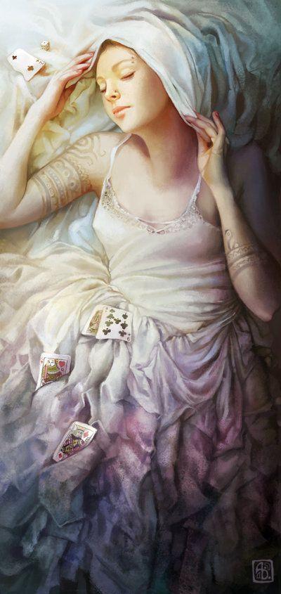 Anna Dittmann escume deviantart ilustrações belas singelas surreal mulheres Apostadora