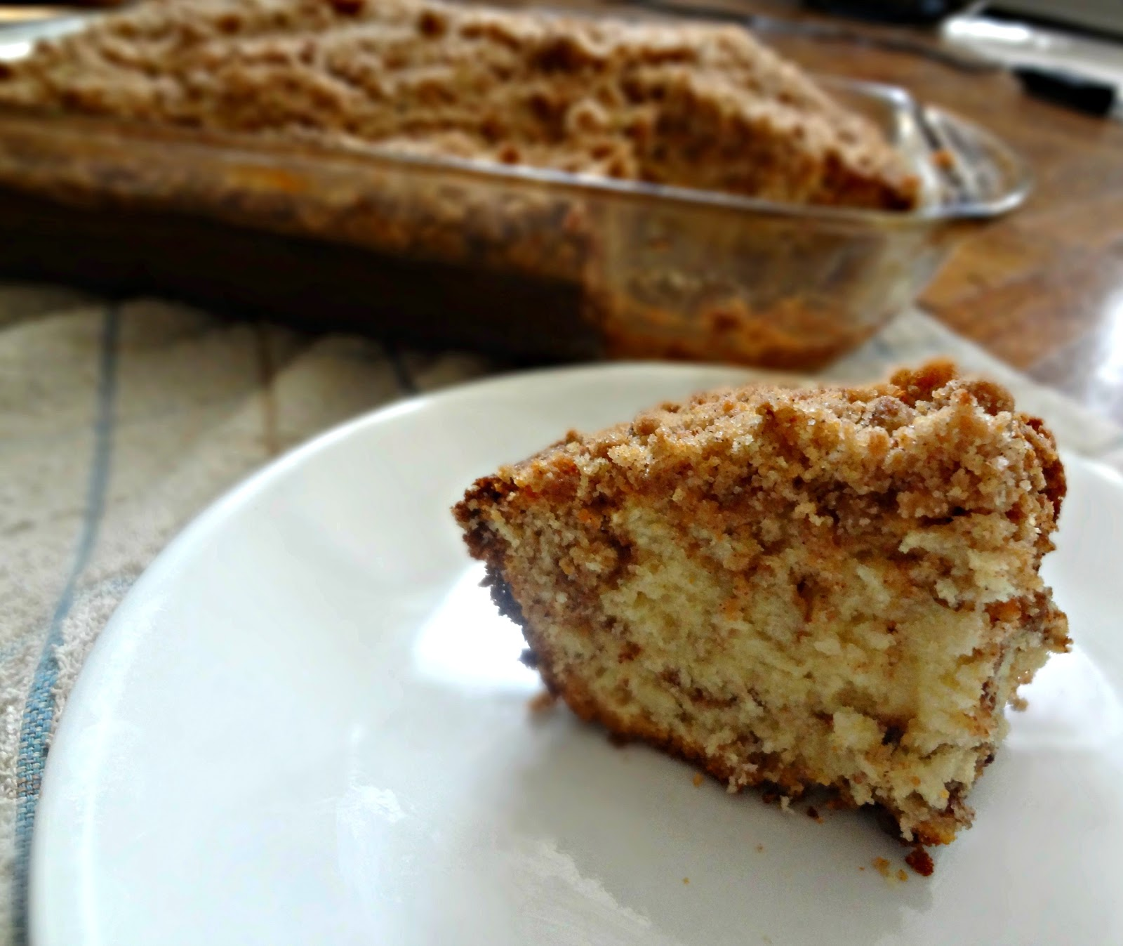 The Cooking Actress: Cinnamon Streusel Coffee Cake + CHOBANI Review