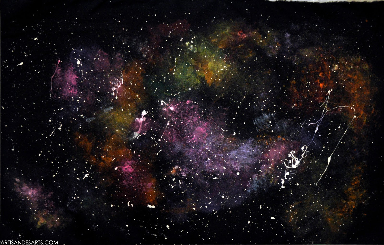 Artisan des arts outer space nebula galaxy paintings for Nebula material