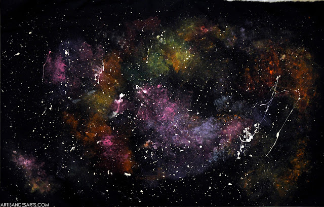 Artisan des arts outer space nebula galaxy paintings for Outer space fabric uk