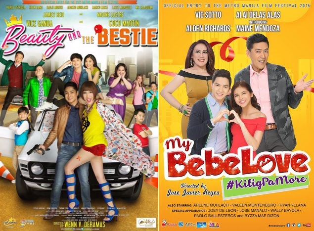 MMFF 2015 TOPGROSSERS. 'Beauty and the Bestie' and 'My Bebe Love'