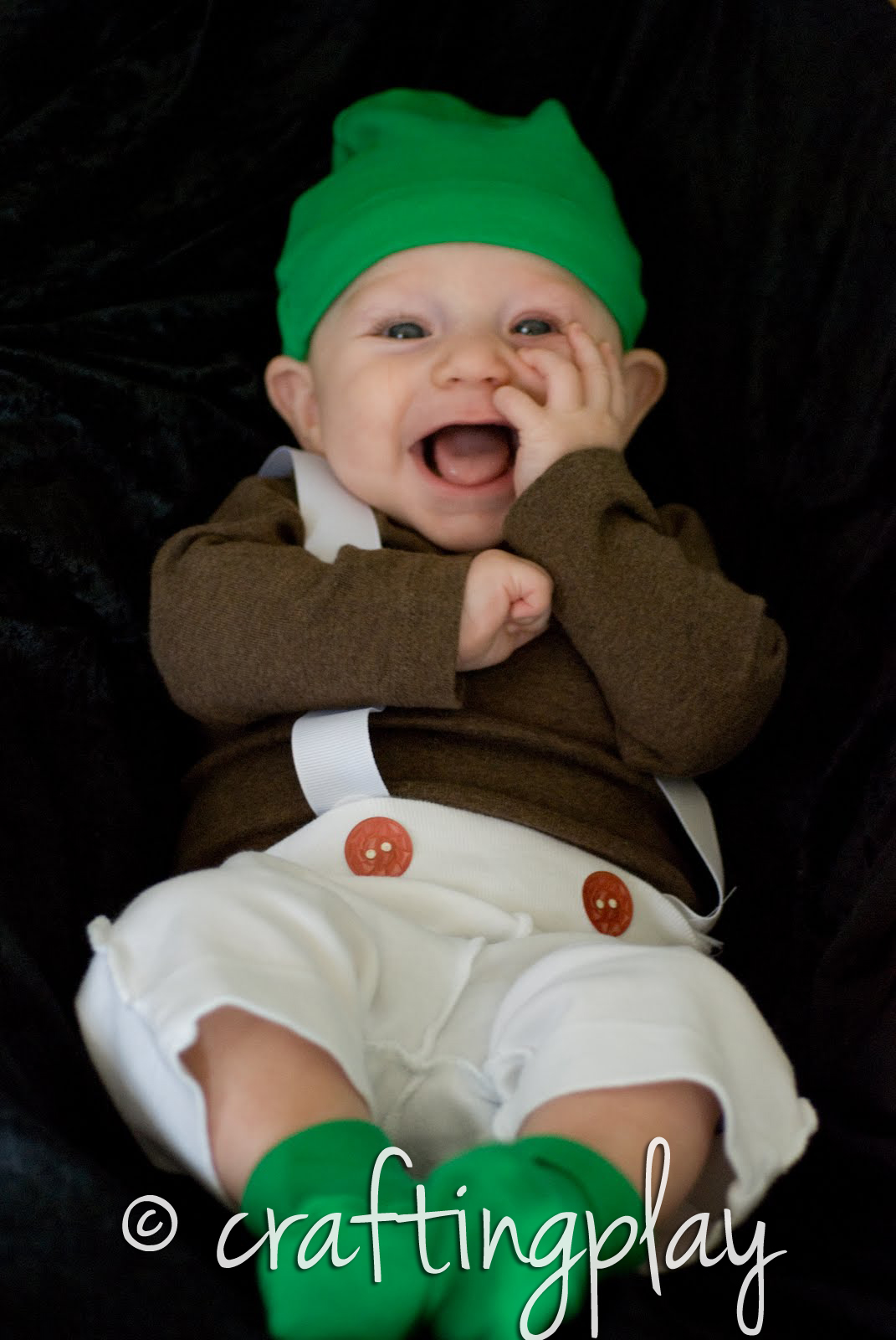Crafting Play Make Your Own Infant Oompa Loompa Costume