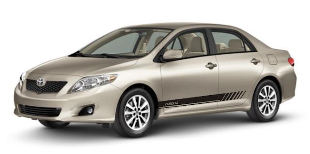 Faixa lateral adesiva modelo Tc1 Corolla kit adesivo 2015 2016
