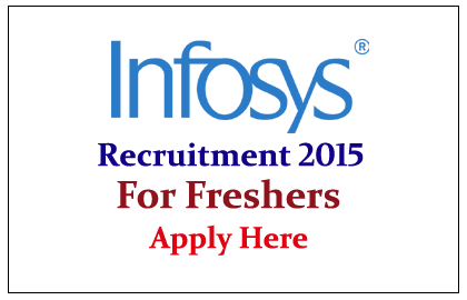 Infosys Hiring Freshers for the year of 2015