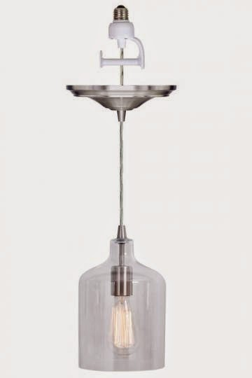 glass pendant light kit