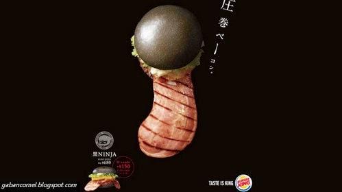 Pelik Burger Lidah Terjelir Makanan Segera Yang Paling Pelik di Jepun
