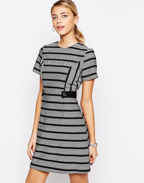black striped dress oasis,