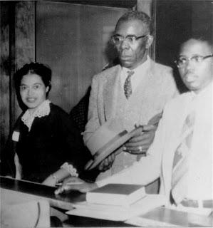 Rosa Parks, E.B .Nixon, Fred Gray, Montgomery Bus Boycott