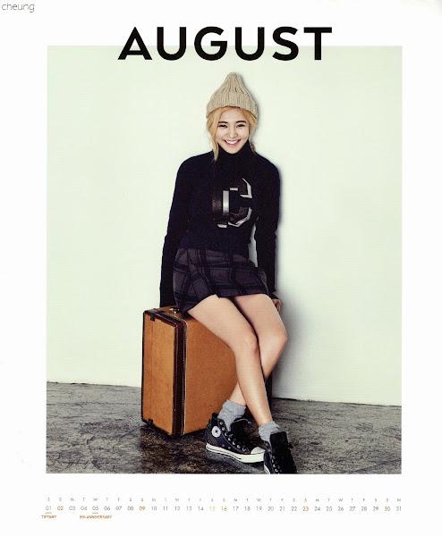 snsd hyoyeon calendar 2015